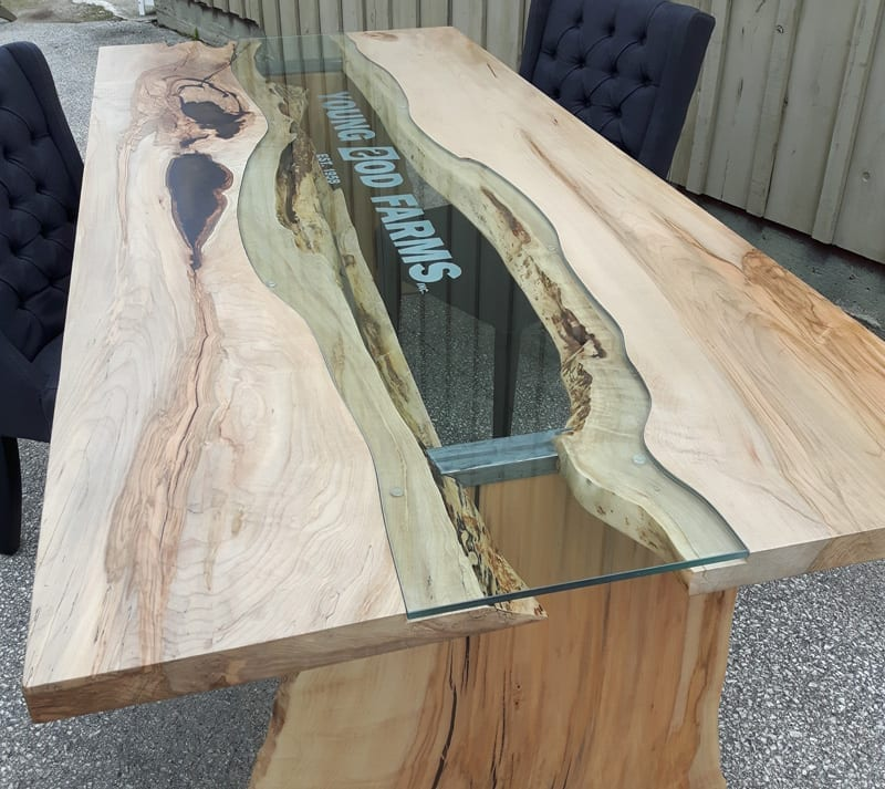 Young Sod Farms live edge table