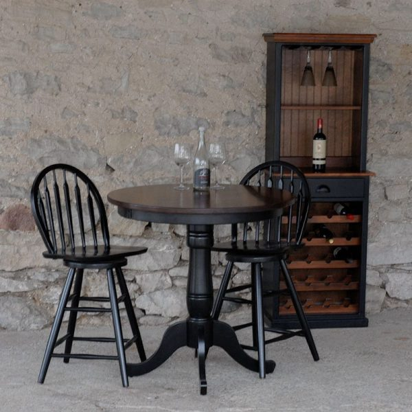 Gathering Table with Swivel Hoop-back Chairs