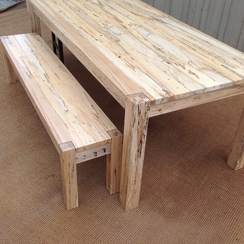 Sequoia Spalted Maple Table & Bench