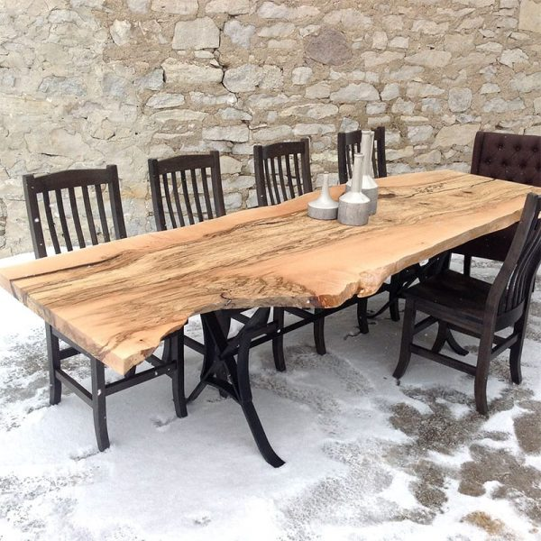 Live Edge Spalted Maple Table