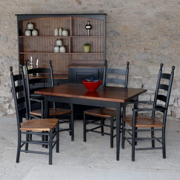 Farm Table with Shaker Ladderback Chairs