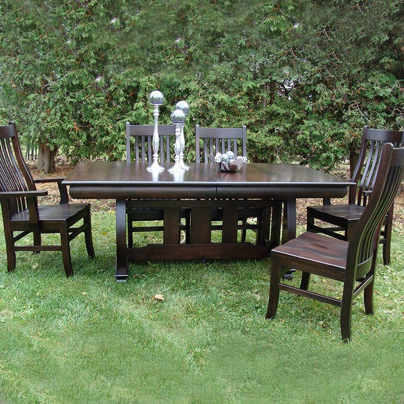 Hampton Trestle Table with Mission Chairs