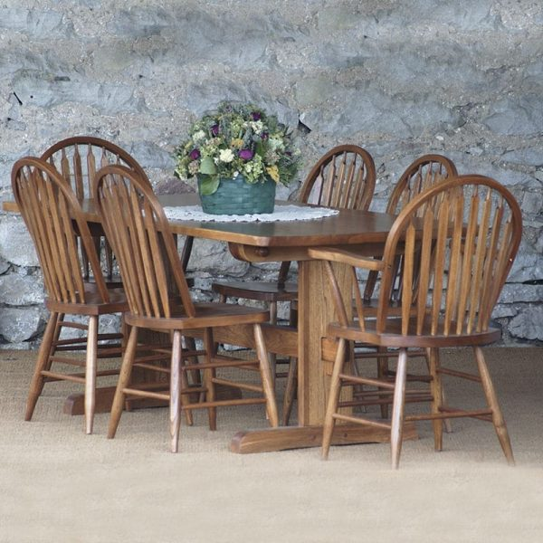 Pin Trestle Farmhouse Dining Suite