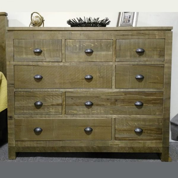 Metro Rough Cut 9-Drawer Dresser