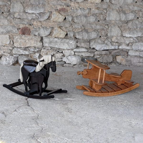 Wooden horse and plane rocker