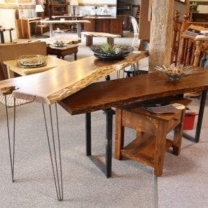 Live-Edge Side tables