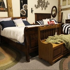 Solid Wood Bed Frame & Bench