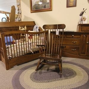 Rocking Chair, Crib & Dresser