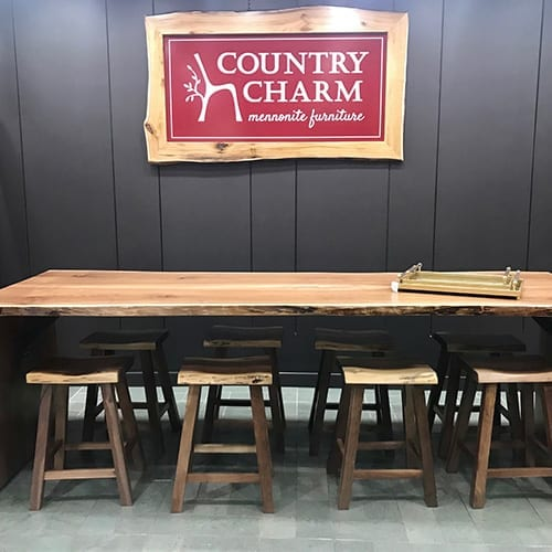Live Edge Bar and Stools