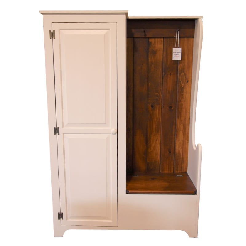 Settle Bench with Armoire