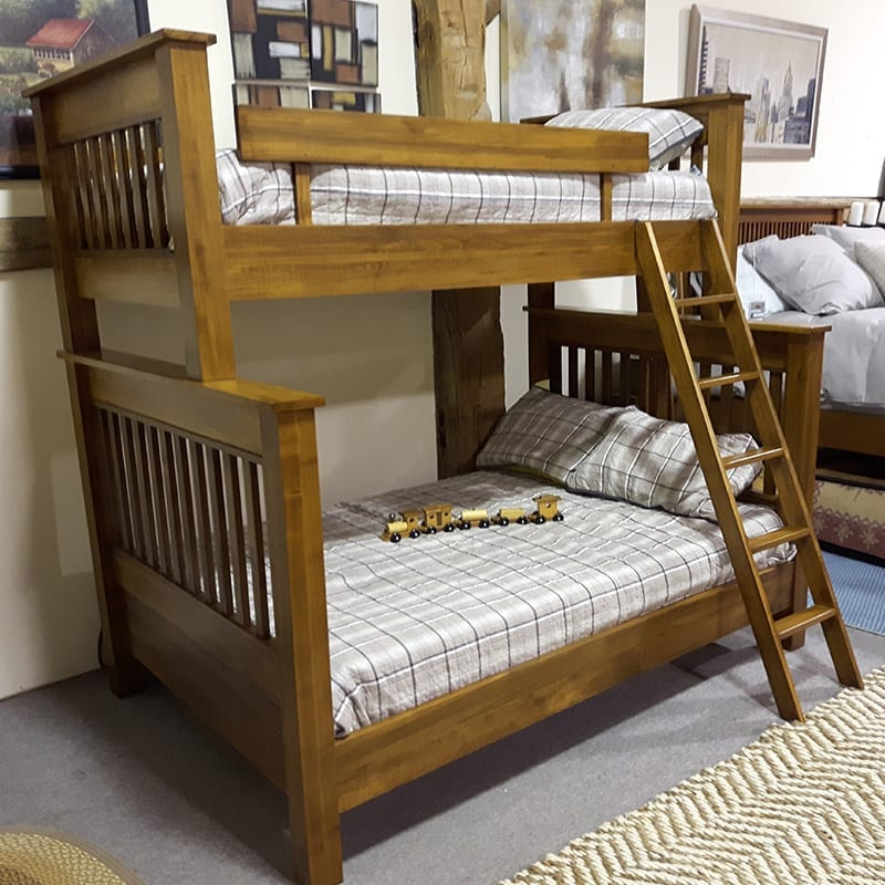 Cottage Slat Single Over Double Bunk Bed