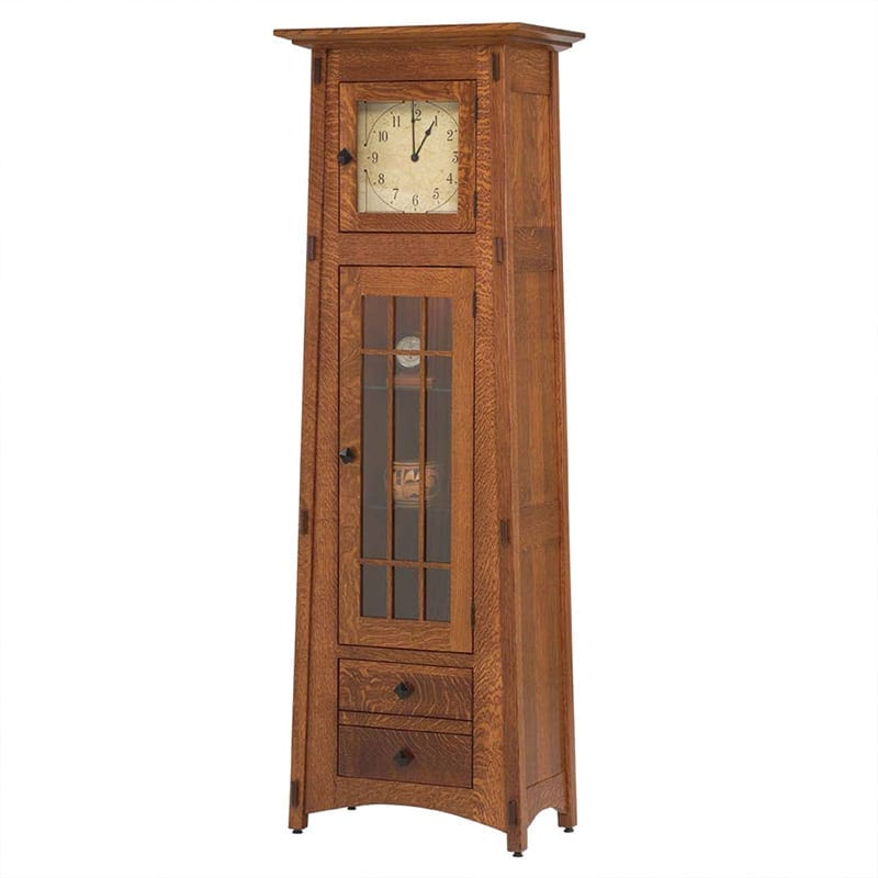 McCoy Clock with Glass Panel Door