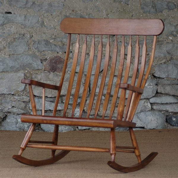 10 slat wide rocking chair