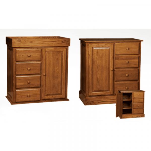 Reversible 4 Drawers & 1 Door Dresser