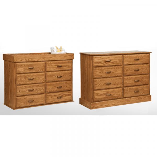 Reversible 8 Drawer Dresser