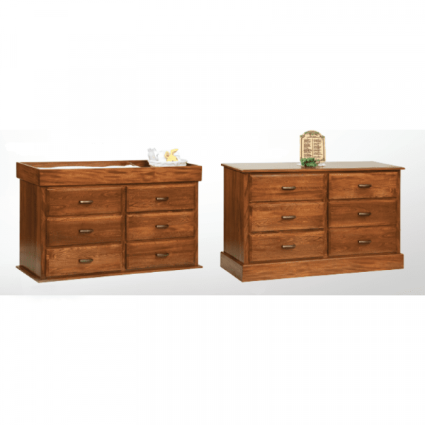 Reversible 6 Drawer Dresser