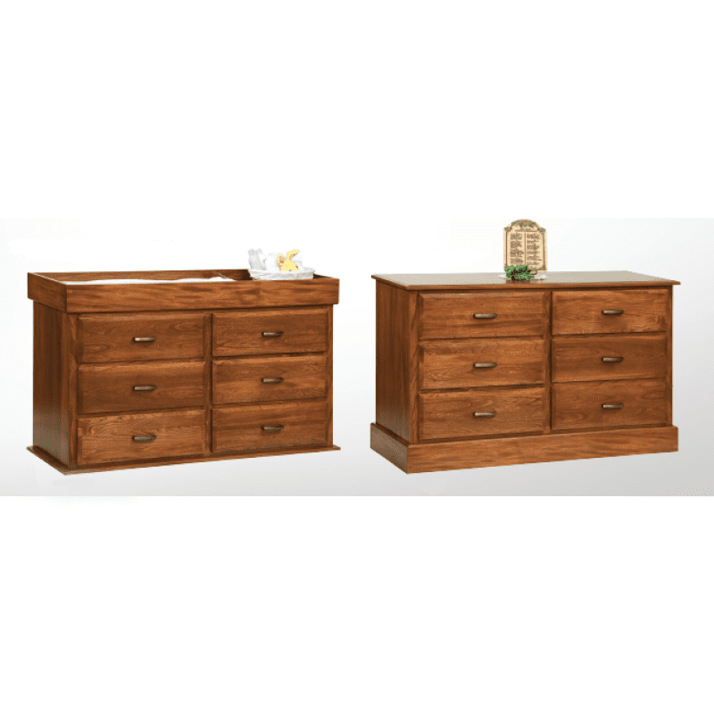 Reversible 6 Drawer Dresser