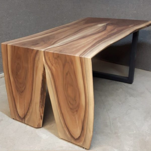 Walnut waterfall desk