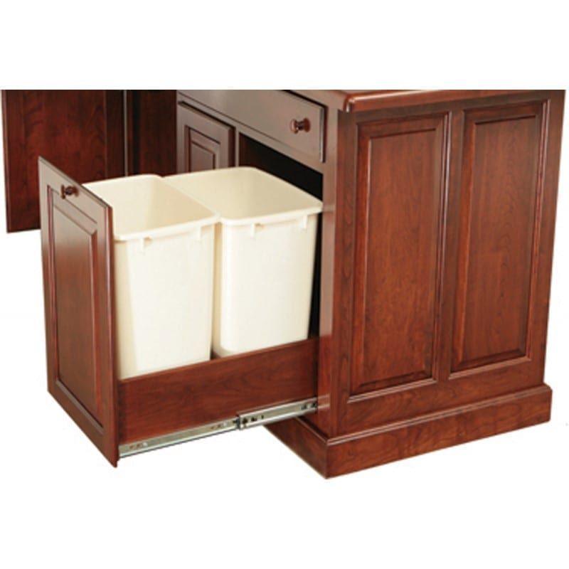 Double 21-qt Wastebasket slide-out