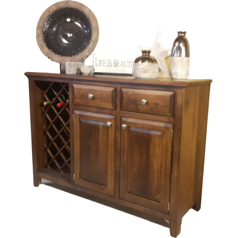 Blue mountain sideboard with wine rack