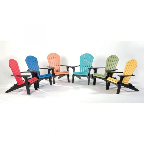 Folding Poly Adirondack chairs