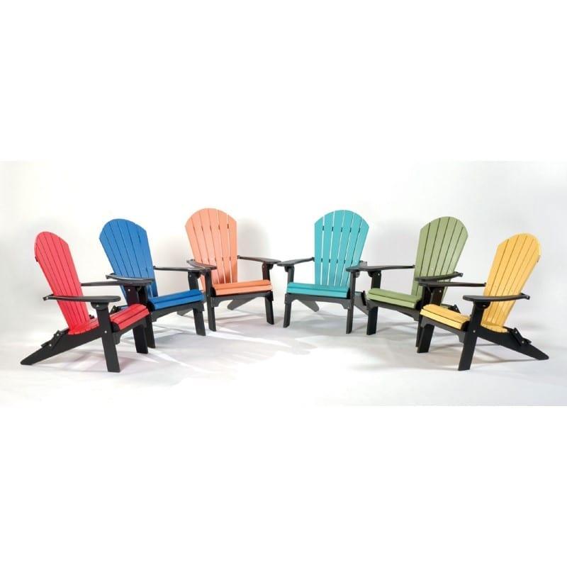 Folding Poly Adirondack chairs