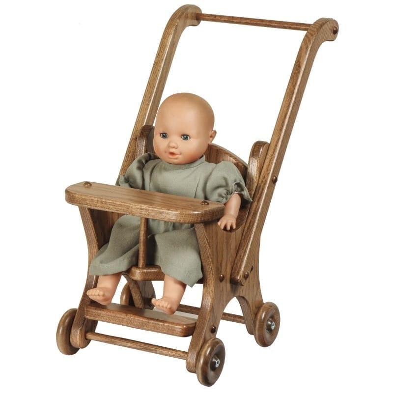 Oak doll stroller