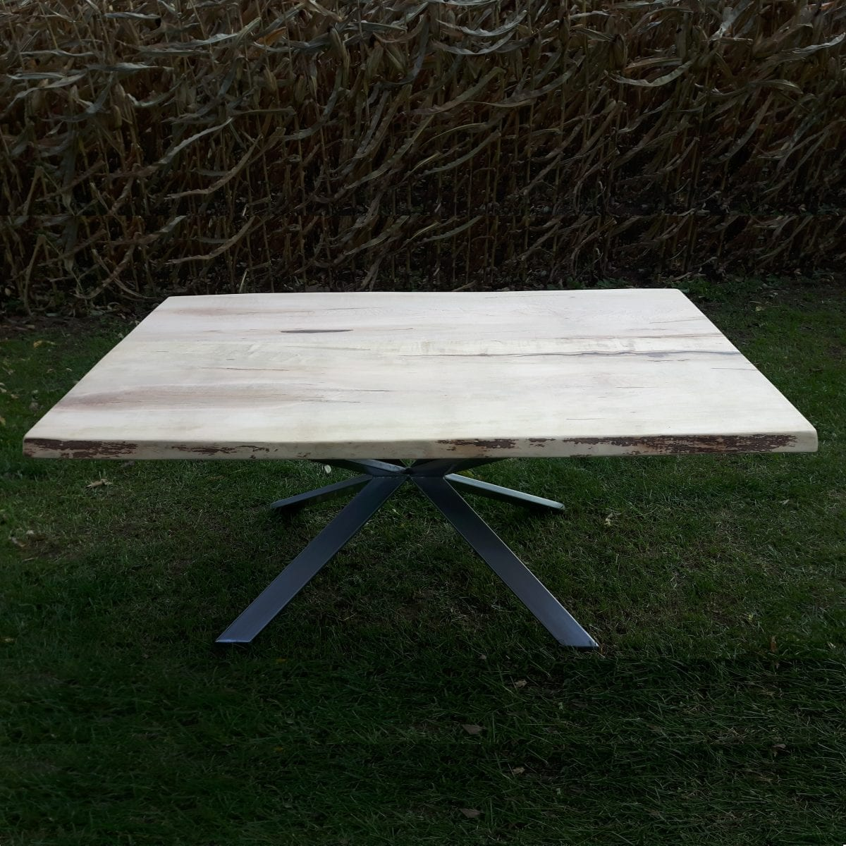 Maple dining table with Kincardine Base