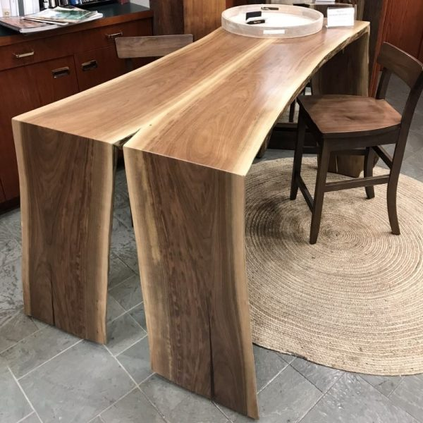 Pub height Walnut table