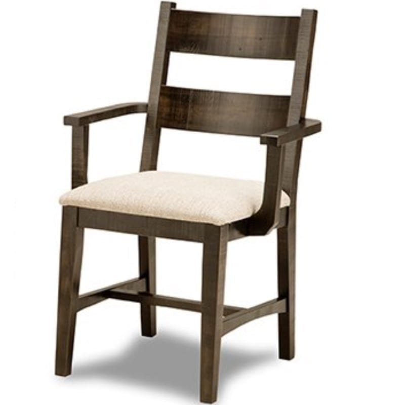 Bancroft arm chair with upholstered seat