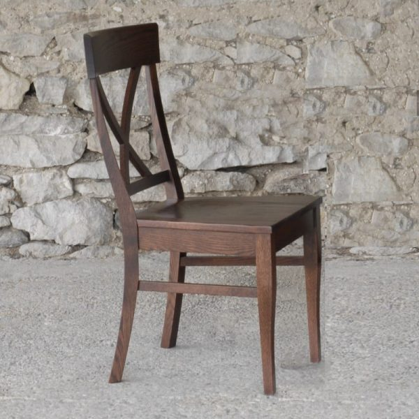 Single X side chair