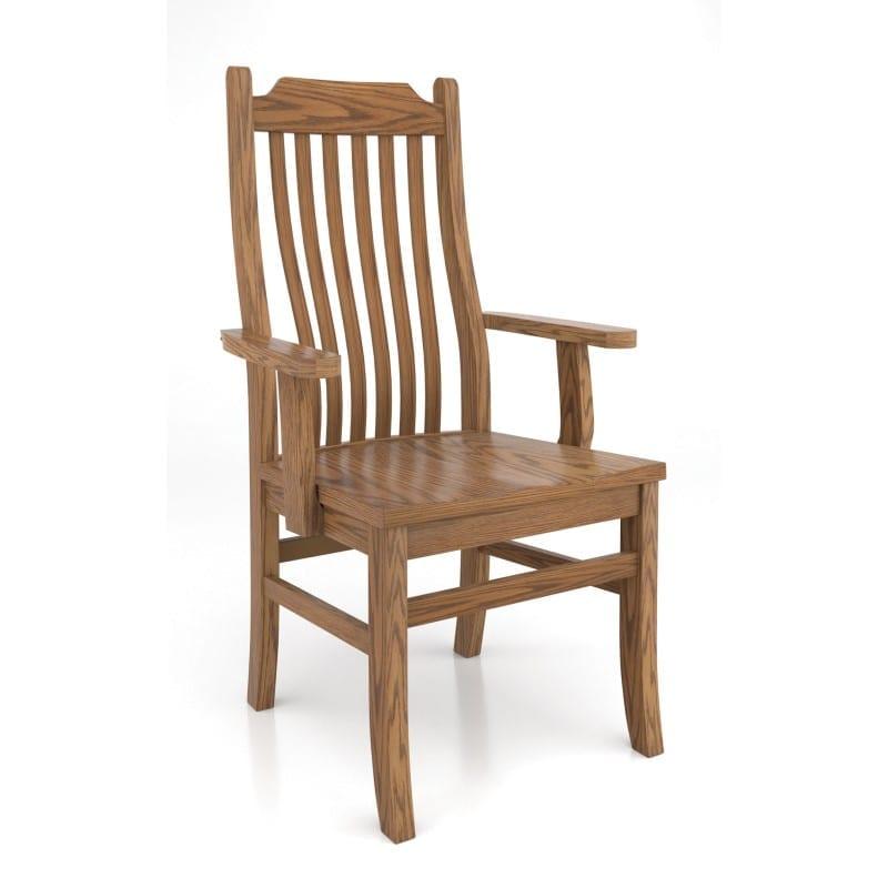 Contour mission arm chair