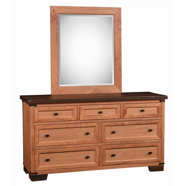 dresser and tall mirror